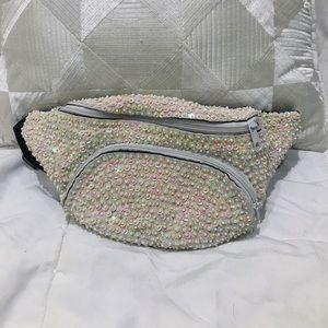 Handbags - White Iridescent Fanny Pack
